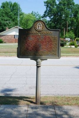 Lincoln County Marker<br>South Side image. Click for full size.