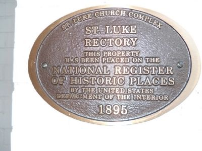 St. Luke Rectory Marker image. Click for full size.