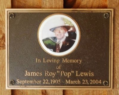 "James Roy ""Pop"" Lewis<br>September 22, 1905 - March 23, 2004 image. Click for full size."