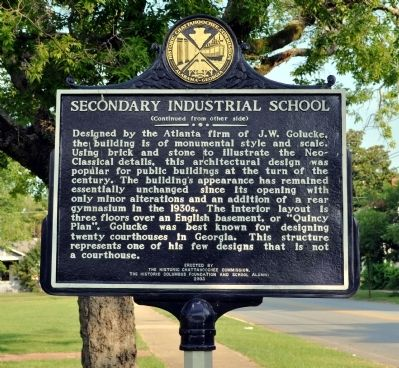 Secondary Industrial School Marker, Side 2 image. Click for full size.