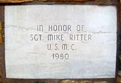 Sgt Mike Ritter Marker Photo, Click for full size