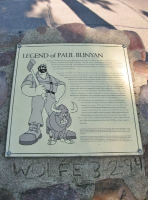 Legend of Paul Bunyan Marker Photo, Click for full size