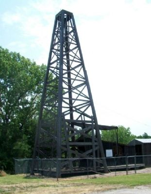 Norman No. 1 Oil Well Replica Photo, Click for full size