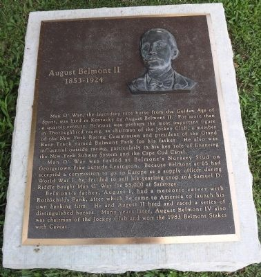 August Belmont II Marker Photo, Click for full size