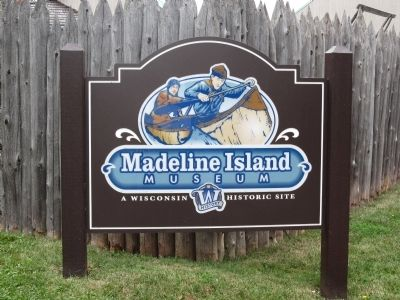Madeline Island Historical Museum sign image. Click for full size.
