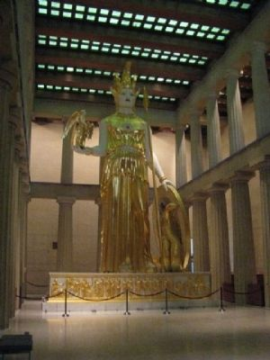 Athena inside the Parthenon. image. Click for full size.