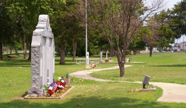 Veterans' Section, Memorial Park, Duncan, Oklahoma Photo, Click for full size