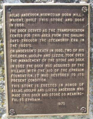 Anderson Dock Marker image. Click for full size.