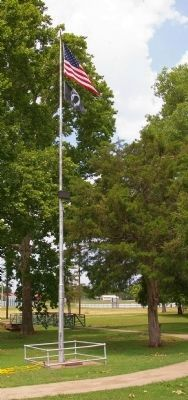 Memorial Park Flagpole Photo, Click for full size