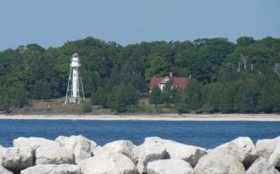 Lighthouse seen from marker image. Click for full size.
