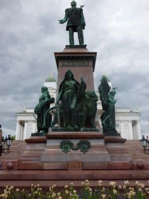 Monument to Emperor Alexander II,Tsar of Russia from 2 March 1855 until his assassination in 1881. image. Click for full size.