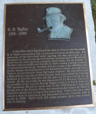 E. P. Taylor Marker Photo, Click for full size