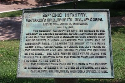 99th Ohio Infantry Marker Photo, Click for full size