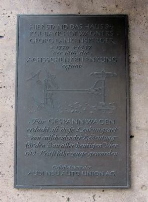 Georg Lankensperger Marker Photo, Click for full size