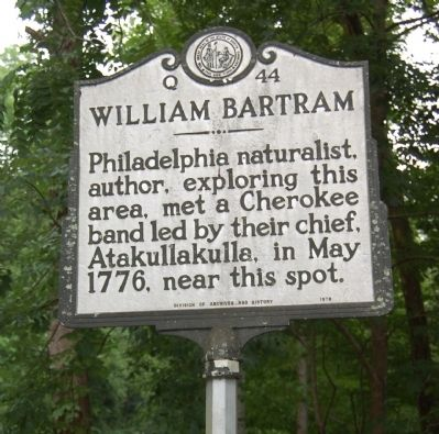 William Bartram Marker Photo, Click for full size
