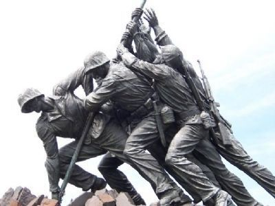 United States Marine Corps Memorial Marker image. Click for full size.