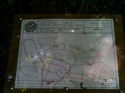 Hart's Woods Trail Map Photo, Click for full size