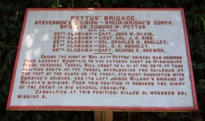 Pettus' Brigade Marker Photo, Click for full size