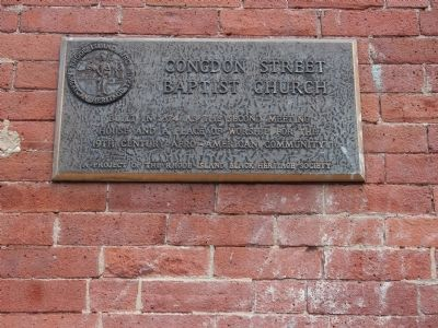 Congdon Street Baptist Church Marker image. Click for full size.