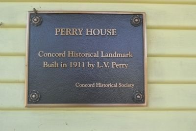 Perry House Marker Photo, Click for full size