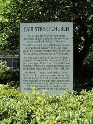 Fair Street Church Marker image. Click for full size.