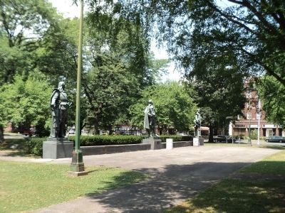 Statues in Academy Green Park image. Click for full size.