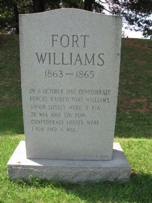 Fort Williams Marker Photo, Click for full size