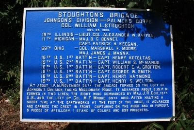Stoughton's Brigade Marker image. Click for full size.