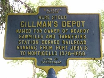 Here Stood Gillman's Depot Marker image. Click for full size.