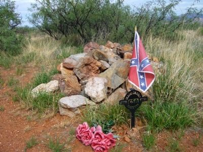 Confederate Grave at Dragoon Springs image. Click for full size.