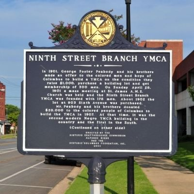 Ninth Street Branch YMCA Marker (Side 1) image. Click for full size.