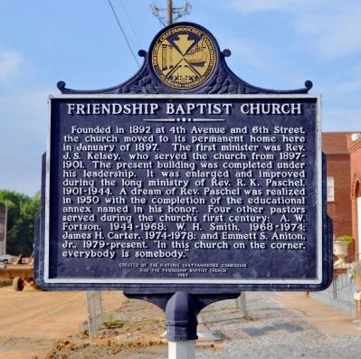 Friendship Baptist Church Marker image. Click for full size.