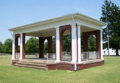World War Homefront and Neodesha Cemetery Association Founders Memorial Pavilion image. Click for full size.