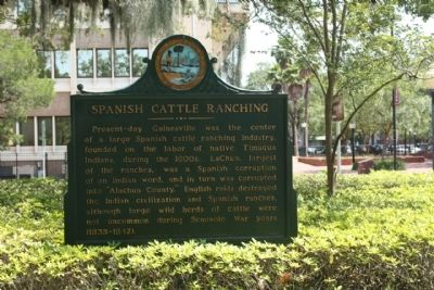 Spanish Cattle Ranching Marker image. Click for full size.