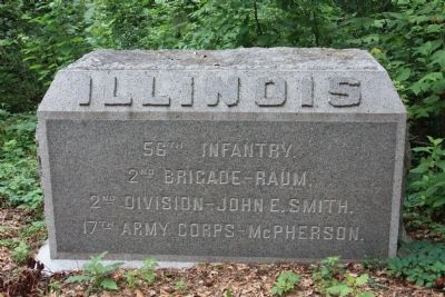 56th Illinois Marker image. Click for full size.