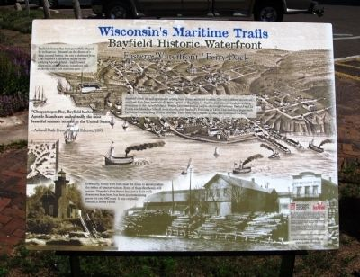 Bayfield Historic Waterfront Marker image. Click for full size.