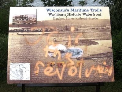 Washburn Historic Waterfront Marker image. Click for full size.