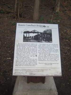 Historic Camelback Bridge Marker Photo, Click for full size