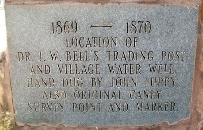 Bell's Trading Post and Village Water Well Marker image. Click for full size.