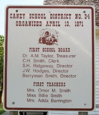 Caney School District No. 34 Marker image. Click for full size.