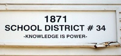 Caney School District No. 34 Sign image. Click for full size.