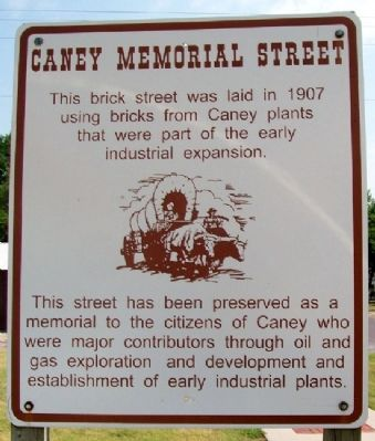 Caney Memorial Street Marker image. Click for full size.
