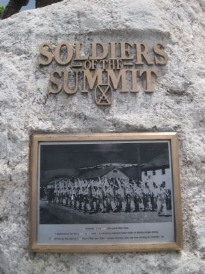 Soldiers of the Summit Marker image. Click for full size.