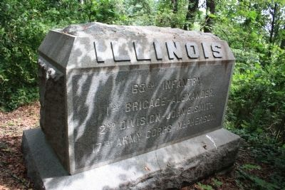 63rd Illinois Marker image. Click for full size.