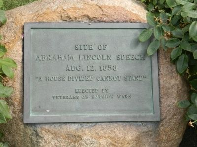 Site of Abraham Lincoln's Speech Marker image. Click for full size.