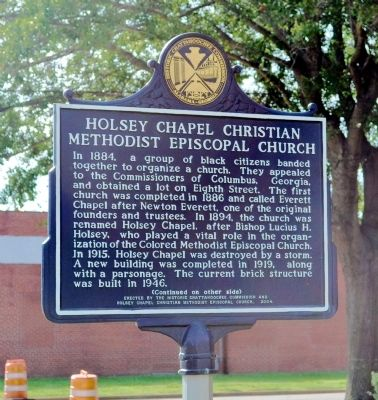 Holsey Chapel Christian Methodist Episcopal Church Marker (Side 1) image. Click for full size.