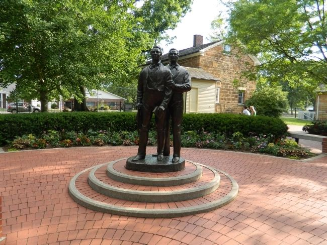 Joseph and Hyrum Smith Statue image. Click for full size.