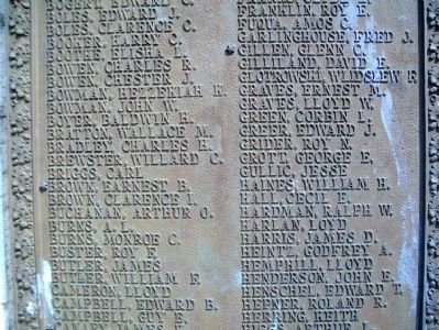 World War Memorial Honor Roll image. Click for full size.