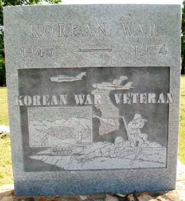 Caney War Memorial Korean War Marker image. Click for full size.