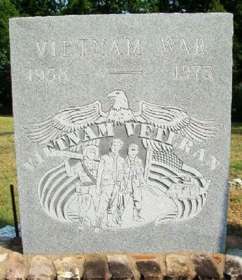 Caney War Memorial Vietnam War Marker image. Click for full size.